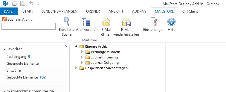 Emails archivieren mit mailStore